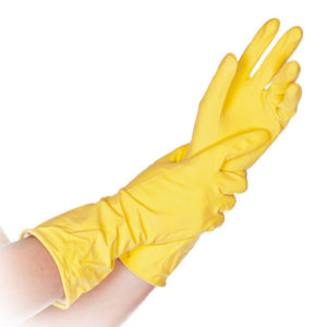 LATEX UNIVERSAL GLOVES/YELLOW/EXTRA LARGE/30cm