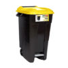 WASTE BIN/YELLOW/WITH PEDAL/WHEELS/120L