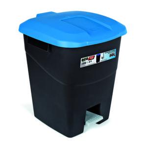 WASTE BIN/BLUE/WITH PEDAL/50L