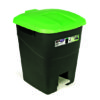 WASTE BIN/GREEN/WITH PEDAL/50L
