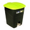 WASTE BIN/YELLOW/WITH PEDAL/50L