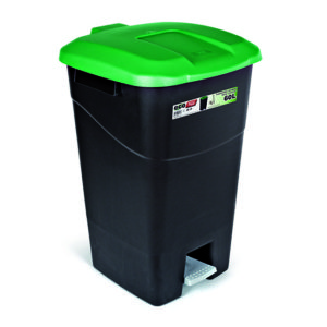 WASTE BIN/GREEN/WITH PEDAL/60L