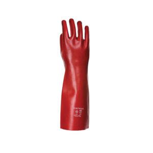 PVC GAUNTLET 45CM RED EXT LARGE