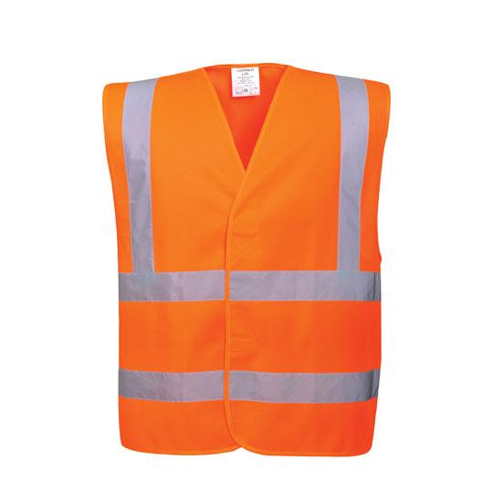 Hi-Vis Two Band & Brace Vest/Orange