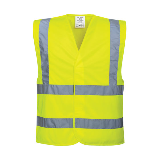 Hi-Vis Two Band & Brace Vest/Yellow