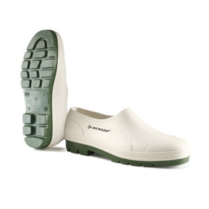 Dunlop Bicolour Wellie Shoe/OB/White