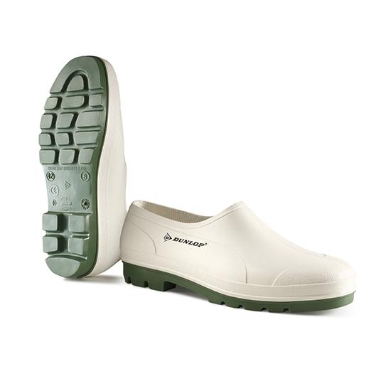 Dunlop Bicolour Wellie Shoe/OB/White