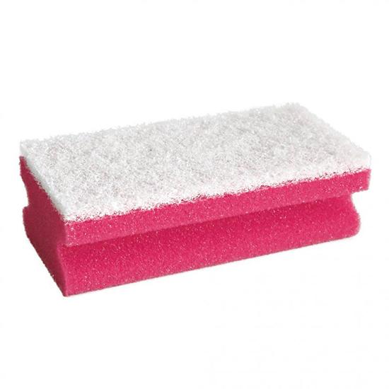 CLEANING SPONGE/RED/15cm x 7cm x 4.5cm/10pcs