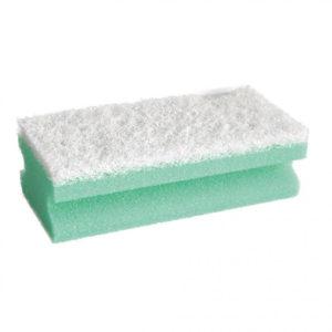 CLEANING SPONGE/GREEN/15cm x 7cm x 4.5cm/10pcs
