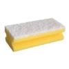CLEANING SPONGE/YELLOW/15cm x 7cm x 4.5cm/10pcs