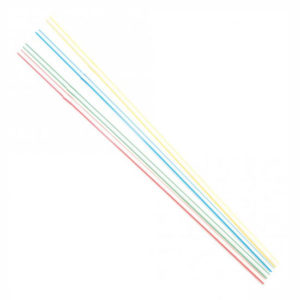 STRAW/COLOURED STRIPES/24cm/500pcs