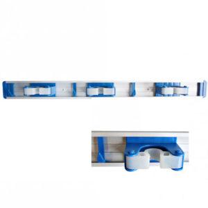 BROOM HOLDER/SILVER/BLUE/48.5cm